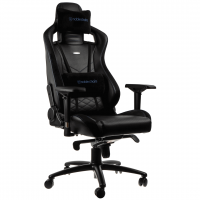 Кресло геймерское Noblechairs EPIC (NBL-PU-BLU-002) PU Leather / black&blue
